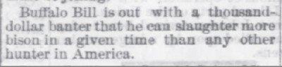 Buffalo Bill Memphis Daily Appeal Aug 13 1872