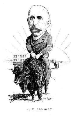 Caricature of Charles Alloway 1909
