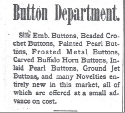 1880 Bison History Chicago Daily Tribune Button Dept Oct 13