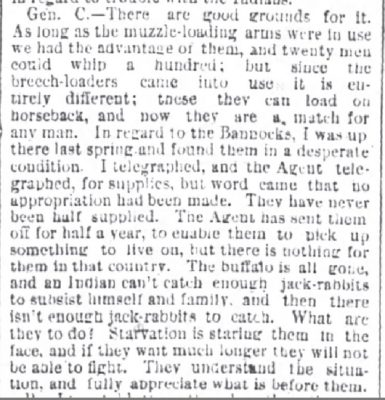 Chicago Daily Tribune Jun 21 1878 extract Starving Indians