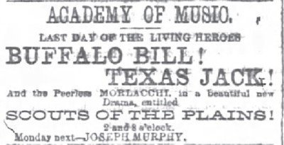 Chicago Daily Tribune May 16 1874 BB Cody to perform