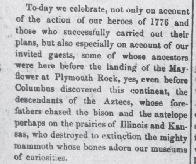 Fort Scott Weekly KS Jul 4 1878 Aztecs