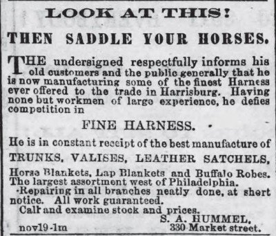 Harrisburg Telegraph, Pennslyvania Dec 15 1868