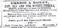 Milwaukee Daily Sentinel April 25th 1850 buffalo robes