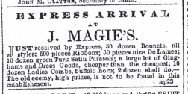 Milwaukee Daily Sentinel April 22nd 1850 shop ad for combs