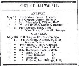 Milwaukee Daily Sentinel May 12 1846 Just Arrived