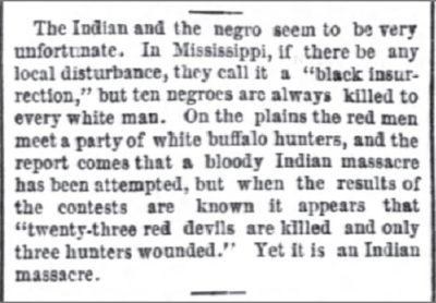 National Republican Wa DC Jan 28 1876 Indian Massacre