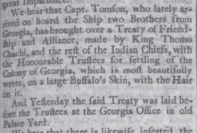 Oct 30 1735 treaty written on a buffalo hide