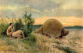 Paleo Indians Glyptodon_old_drawing