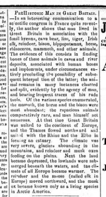 1868 Prehistoric Man and Great Britain Mar 23 1868 Daily Colonist