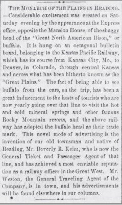 Read Times Pa June 3 1873 Monarch of the Plains