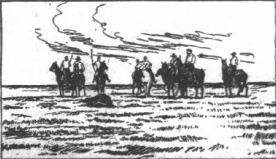 Riders of the dying buffalo on the Goddnight ranch Oct1916