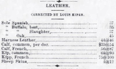 The Atchison Dailt Champion-Kansas Feb 4 1870 Leather Ad