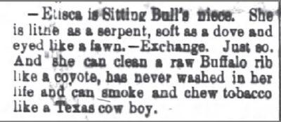 The Atlanta Constitution May 8 1878 Sitting Bulls Niece