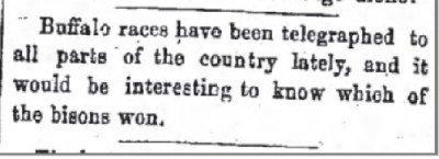 The Daily Milwaukee News Buffalo Races Aug 13 1870