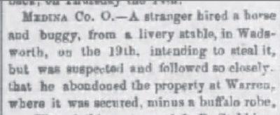 The Freemont Weekly Nov 12 1869 Man Steals Robe