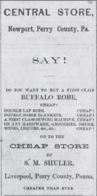 The New Bloomfield Times Pa. Cheap Robe Jan 1 1878