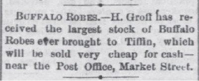 The Tiffin Tribune _Ohio_Dec 3 1874 Buffalo Robes