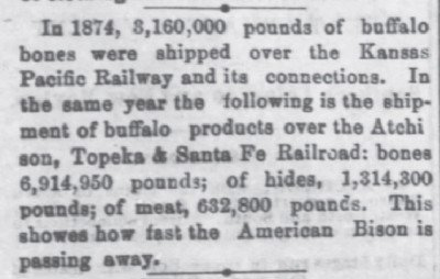 Lawrence Daily Journal - Apr 22 1875 3160000 lbs of bones