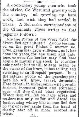 The Galveston Daily News Jun 23 1875 Go West