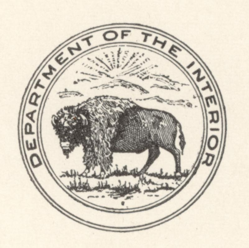 Beautiful Adopted In 2001. Flag Of The United States Department Of The Interior