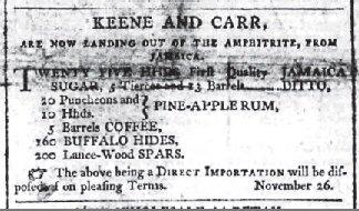 Cork Merc Nov 16 1802 hides forsale ad