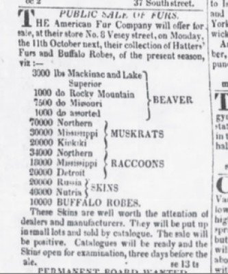 The Evening Post Oct 5 1824 10,000 Robes