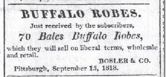 The Pittsburgh Gazette Nov 17 1818 70 bales robes