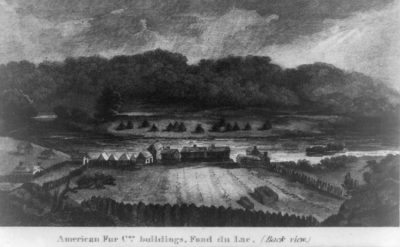 American Fur Cos. buildings. Fond du Lac (back view)1827