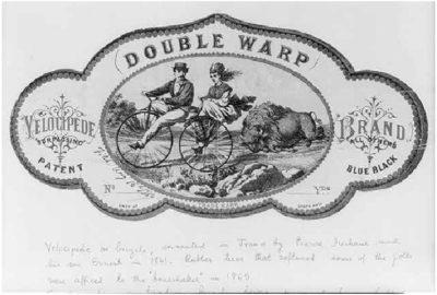 Double-Warp Velocipede Brand cir 1869