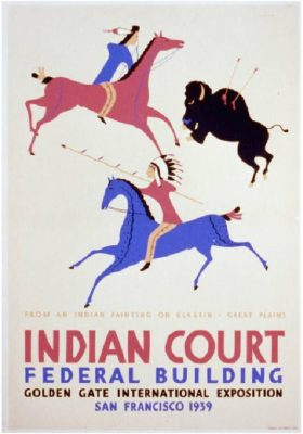 Indian Court Fed Building circa 1939