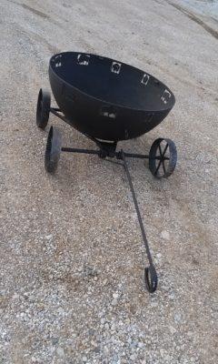 Metal Art Buffalo Fire Wagon
