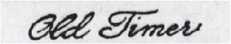 Samuel Walking Coyote - Old Timer Signature