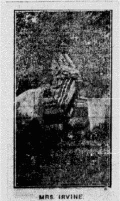 Mrs Irvine from newspaper 1907