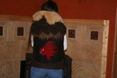 wool vest, handmade