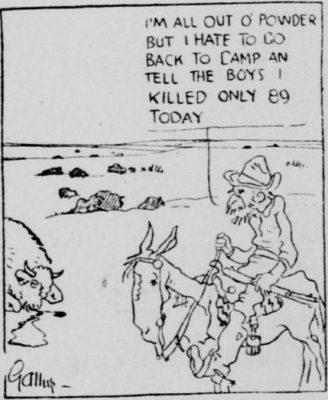 1914 Buffalo Hunter Cartoon