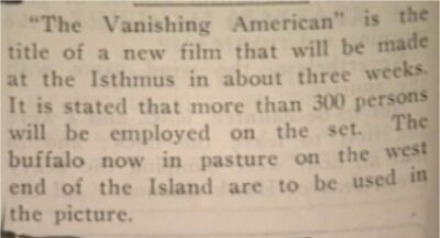 Catalina Islander Jan 1925 The Vanishing American