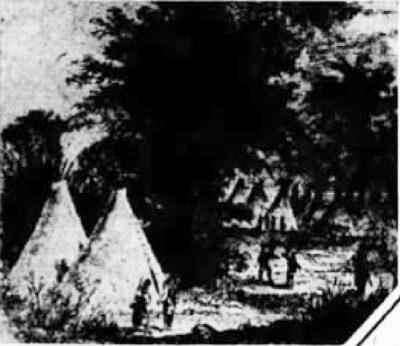 Pawnee Village Cranmer Ne 1932 painting by Beirstad
