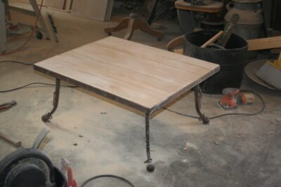 Making a coffee table from hames