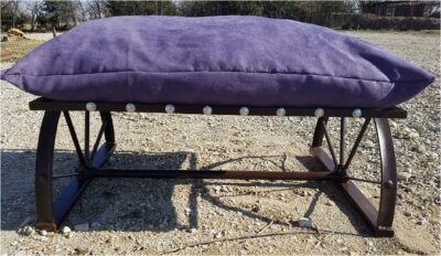 Purple Dog Bed with Buffalo Nickels