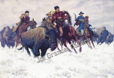 """The Grand Duke Alexis Buffalo Hunt"" Art courtesy of Joe Grandee, Historical Western Artist"